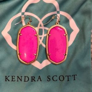 Kendra Scott bright Pink earrings
